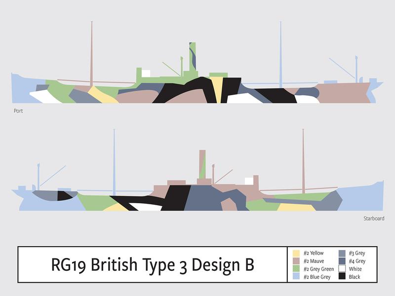 RG19 British Type 3 Design B illustration camouflage dazzle