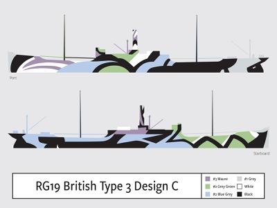 RG19 British Type 3 Design C illustration camouflage dazzle