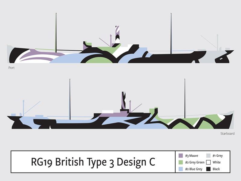 RG19 British Type 3 Design C illustration camouflage dazzle