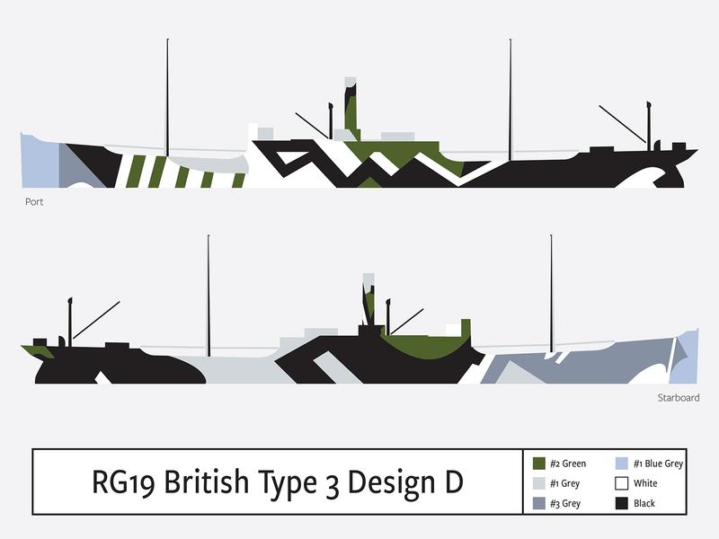 RG19 British Type 3 Design D illustration camouflage dazzle
