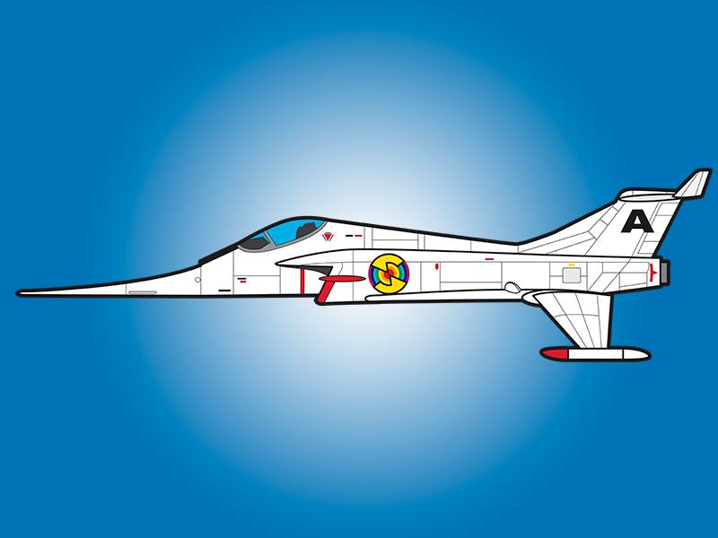"Angel Interceptor - ""Captain Scarlett and the Mysterons"" captain scarlett sci fi aircraft plane fighter jet angel interceptor gerry anderson"