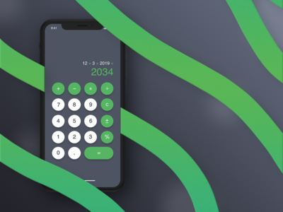 DailyUI Challenge #004 Calculator
