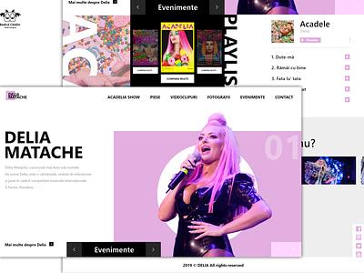 Landing Page - Delia Matache, Romanian Singer ui web design ux music app ui minimalistic ladingpage singer music