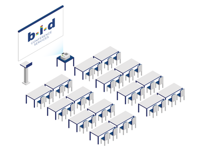 B.I.D. services isometric conference hall