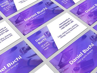 Daniel Buchl business card contacts contact czech republic purple gradient purple czech graphic designer graphic designer daniel buchl daniel buchl business card design business cards business card businesscard photoshop indesign branding logo business czech design