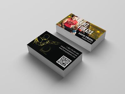 David Přidal business card david contact qr code training center training healthy warrior muscles personal trainer trainer david pridal business card design business card indesign branding business czech design
