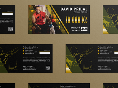 David Přidal gift voucher factory health fitness trainers personal trainer gift card gift vouchers voucher design voucher print design training center training přidal david trainer indesign branding czech design