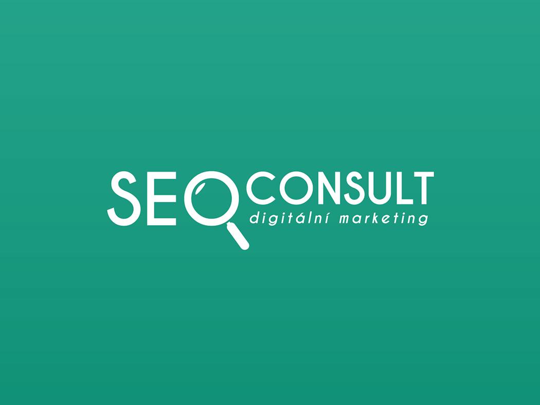 SEO Consult logo magnifier complex company company brand logo marketing agency marketing digital seo company consult seo green branding vector logo logo design illustrator business czech design