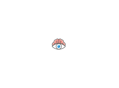 Eye with brain icon (unused, for sale)