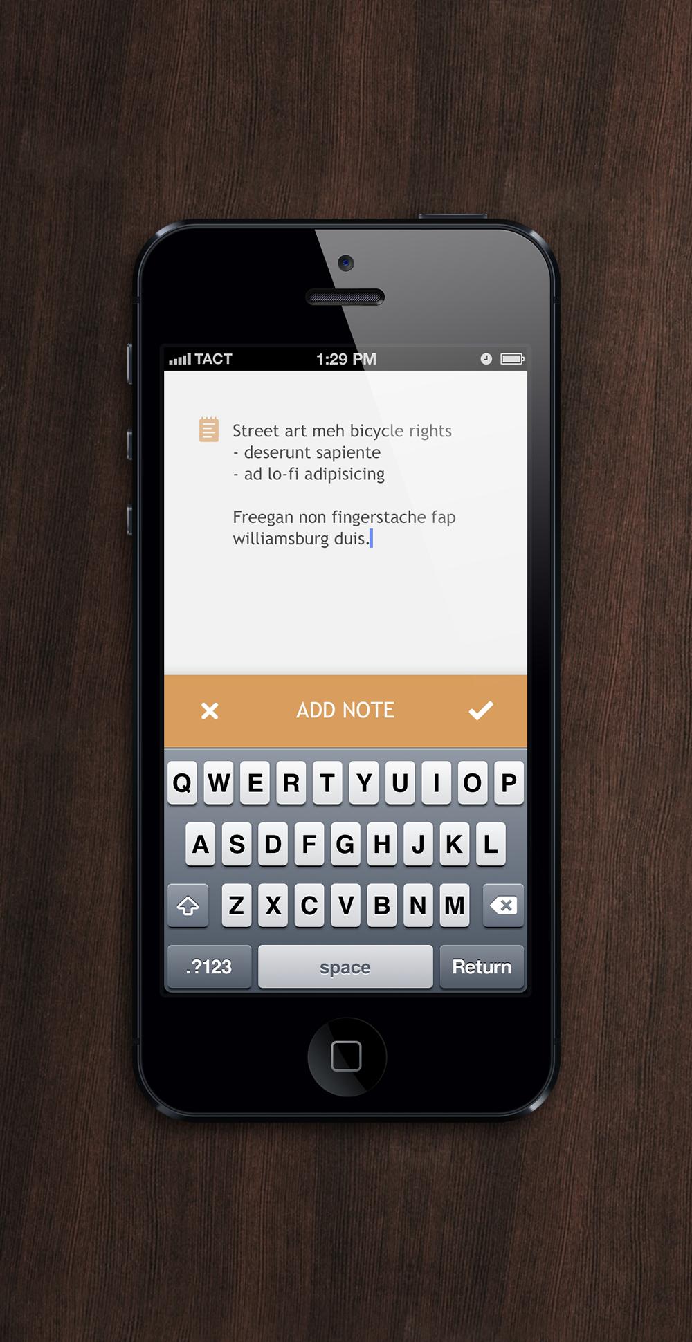 Add note screen