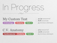 Tests In Progress