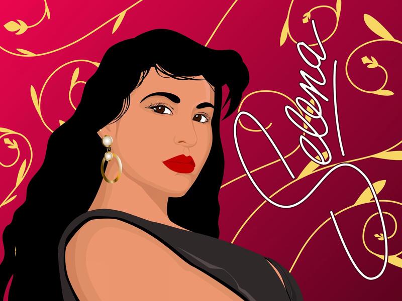Selena Quintanilla latina. artist fanart selena