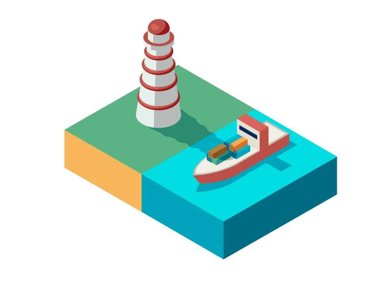 Isometric Lighthouse isometric illustration isometric illustration