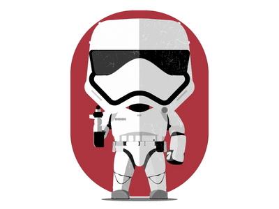 Stormtrooper Flat Vector storm trooper starwars toys flat illustration flat design stormtrooper illustration