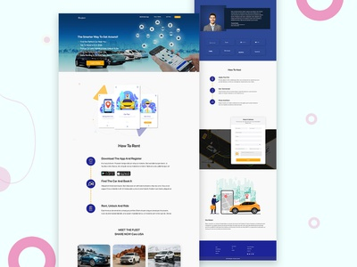 Car Sharing App landing page website design ui landing page insurance design creative