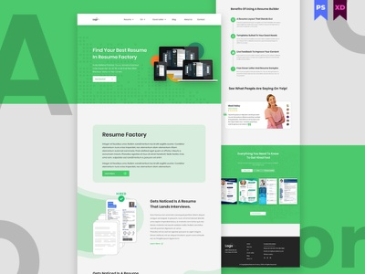 Resume Builder Website development website design web template website template website webdesign psd templates letter design cv