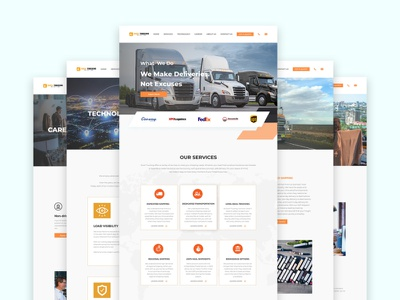 Excel Trucking landing page user interface developement trucking psd design psd mockup psd template website template web template website design website web ui  ux design ui