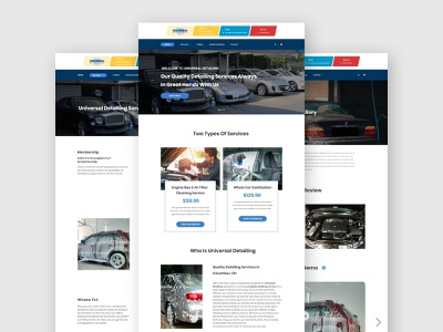Universal Auto Detailing ui ui  ux xd ui kit xd design adobe xd psd design psd template psd mockup template design website concept car detailing detailing carwash car website design web design website web