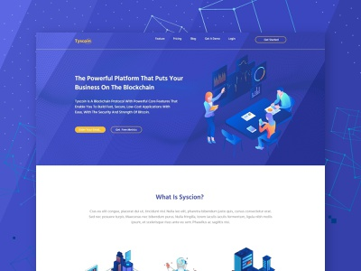 Tyscion I Blockchain website ui design web development psd template psd mockup web design website landing page crypto currency crypto website design user interface ui  ux blockchainfirm blockchain cryptocurrency