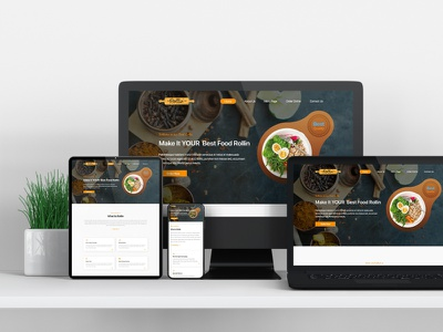 Restaurant I Responsive web design wireframe ui responsive graphic design homepage design ui  ux foodie food and drink food restaurant website mockup psd psd template web template web landing design website design