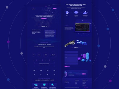 Elevated I Cryptocurrency & Blockchain landing page user interface ui mockup web mockup web template blockchaintechnology crypto agency blockchain cryptocurrency website landing page website design ui  ux