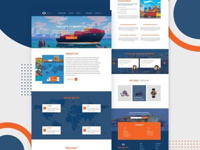 Import - Export Website website ui ecommerce user interface blog graphic design design landing page ui  ux wireframe web template website design web sales