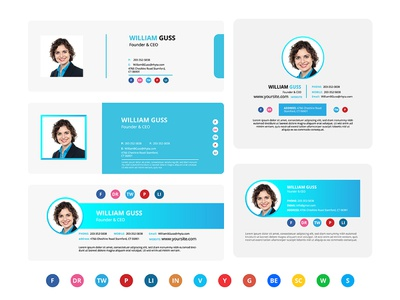 5 Email Signature Template page rays support newsletter color red text news style background corporate layout