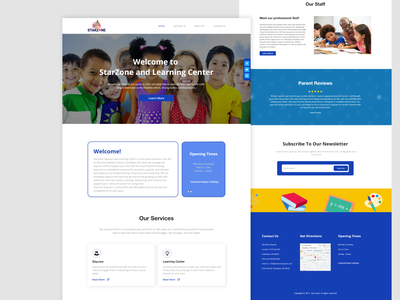 Stare Zone Daycare ux ecommerce web mobile landing page user interface website design design ui  ux ui daycare