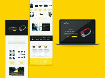Electronic accessories website design concept