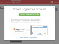 Create Logentries account