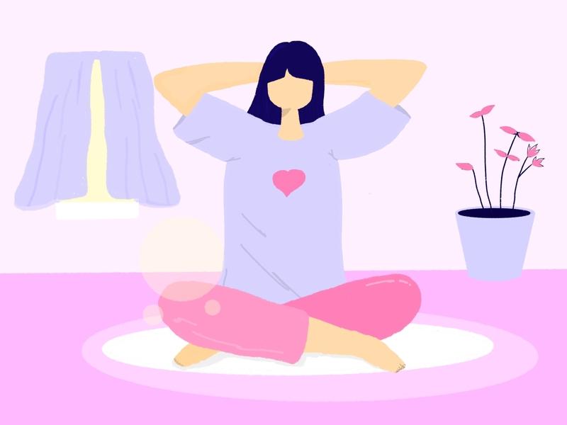Pastel color women illustration