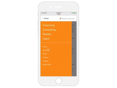 Nonprofit Finance Fund – Responsive Design Mobile Part #2