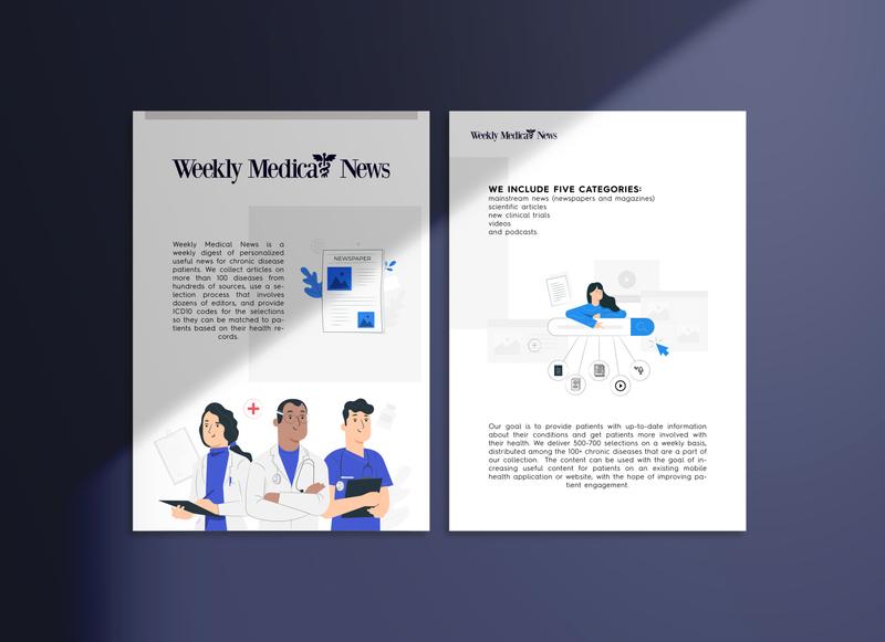 Medical Online Newspaper illustration web logo ux vector ui poster design flyer design typography design