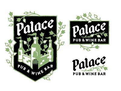 Palace Pub & Wine Bar castle branding logo