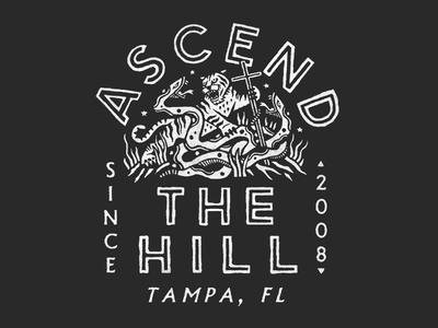 Ascend The Hill merchandise illustration apparel