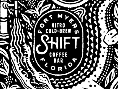 Shift Coffee Growler all over print growler illustration
