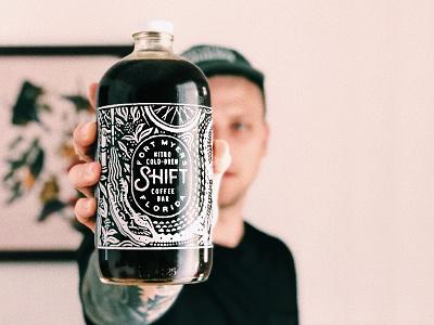 SHIFTxNOOM coffee illustrations bottle growler