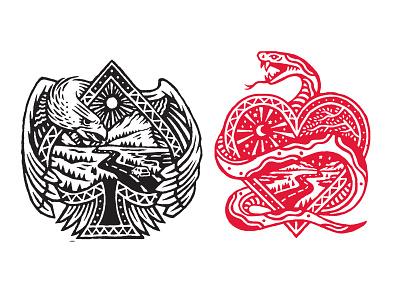 ACE illustration spades hearts ace