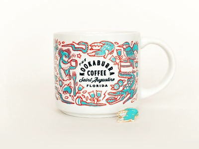 KOOKABURRAxNOOM illustration coffee mug