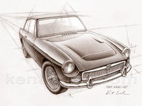 MGC car drawing