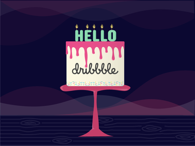 Dribble First Shot hello dribble cake illustration first shot