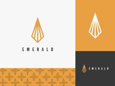 Emerald Fashion and Beauty Logo Design brand and identity ramescreative diamond logo emerald logo emerald bold logo monogram line logo beauty logo fashion logos khaerulrisky brand logo designer logo branding