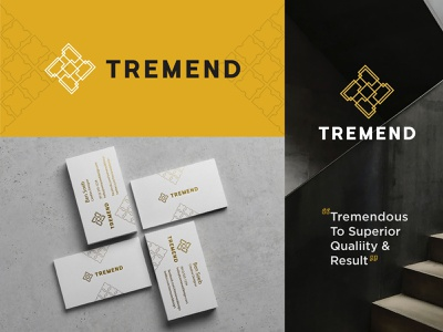 Tremend Architectural Company Branding ⁣Design⁣ monogram clean business card web design typography product design print illustration ramescreative logotype brand and identity brand logo designs logo designer logo branding architectural architecture