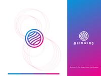 Minimalist Circle Logo Design for Highwind