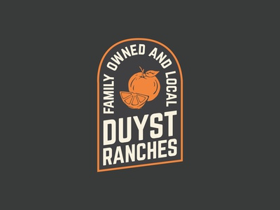 Orange Citrus Growing Badge Logo Design