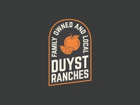 Orange Citrus Growing Badge Logo Design