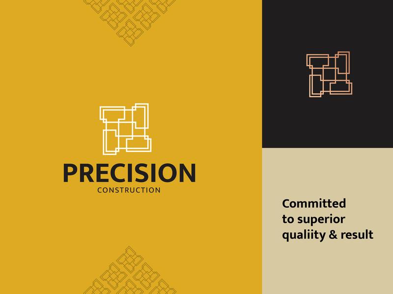 Precision Construction Logo logo a day concept graphic design gold portfolio vector construction precision elegant luxury minimalist khaerulrisky logo designs logomaker logo designer logo identity branding brand and identity brand