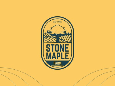 Stone Maple Farm Logo Design