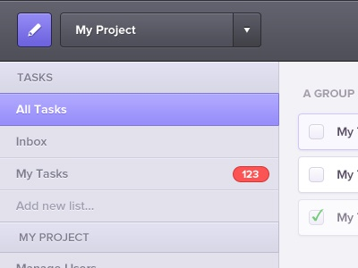 Task Manager task ui crm client list project