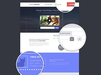 Landing Page energy usage money web app landing page landing page